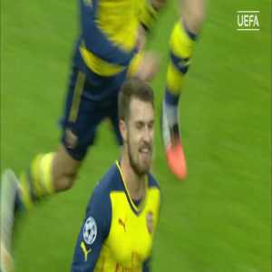 Ramsey shows of his weak foot against Galatasaray