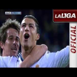 Real Madrid [2] - 0 Sevilla - Cristiano Ronaldo (great goal)