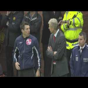 Remembering Arsene Wenger being sent off at Old Trafford