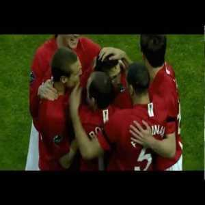 Man United [1]-0 Porto: Cristiano Ronaldo (Laser Beam)
