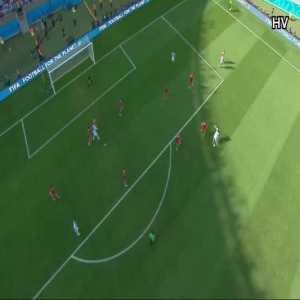 Argentina [1]-0 Iran - L.Messi 90'+1 (Great Goal)