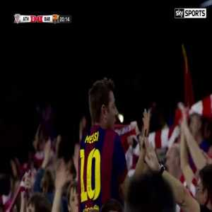 FC Barcelona 1-0 Athletic Bilbao - Messi (greatest goal) Copa del Rey Final 2015