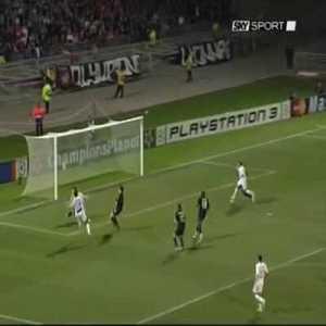 Lyon 0-[2] Roma - Mancini 44' (Great Goal)