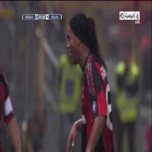 Parma 0 - [1] AC Milan - 25' Pirlo (Great Goal)