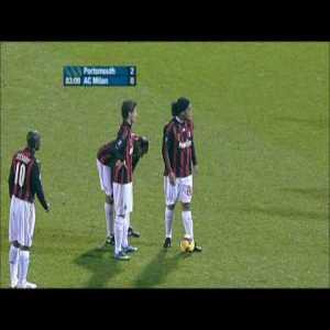 Portsmouth 1 - AC Milan [2] - Ronaldinho free kick