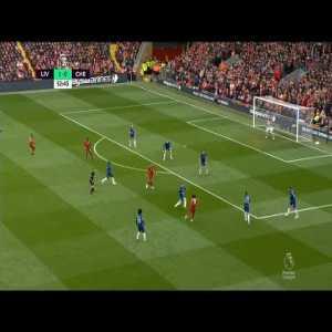 Salah's incredible shot against Chelsea