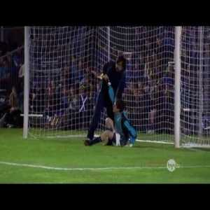 Scott Sterling's great performance in a penalty shootout to win his team the championship.