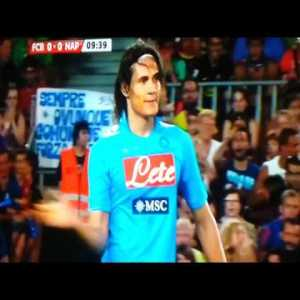 Cavani amazing overhead kick vs Barca disallowed for offside (2011)