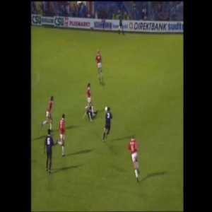 Excellent passing out of a press by Louis van Gaal's Ajax side that leads to an Overmars' goal