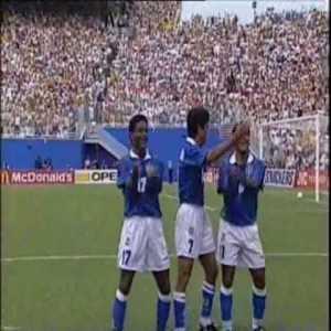 Holland 0-[2] Brazil - Bebeto 61' (Great celebration)