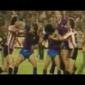 Legendary brawl between Barca and Bilbao players in CDR 1984 final