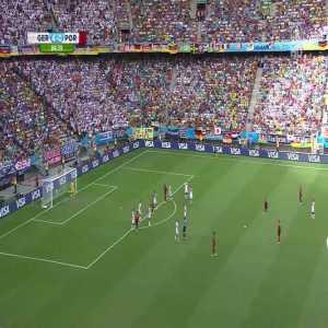 Long range free-kick from Cristiano Ronaldo against Germany