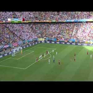 Portugal vs Germany - Great Free Kick by Ronaldo (85')