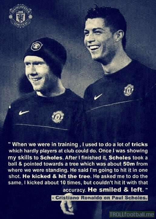 Ronaldo shares an incredible story on Paul Scholes