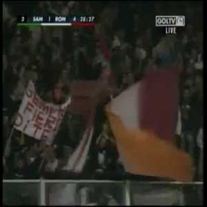 Sampdoria - Roma 1 - [4] Totti (great goal)