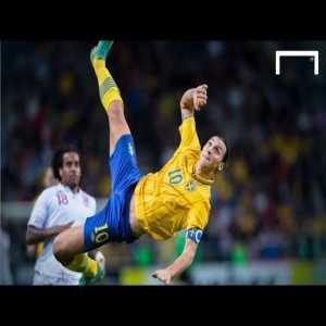 Sweden [4]-2 England - Bicycle scores a Zlatan 90+1