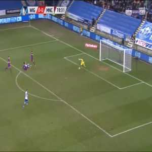 Wigan Athletic [1] : 0 Manchester City, Will Grigg 79'