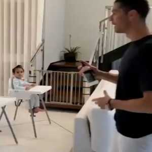 [433] Cristiano Ronaldo teaching his kids to stay safe