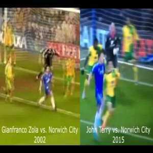 John Terry almost recreated Zola's wondergoal vs. Norwich