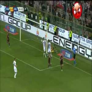 Parma 3 - [5] AC Milan - Jeremy Menez 79' (backheel goal)
