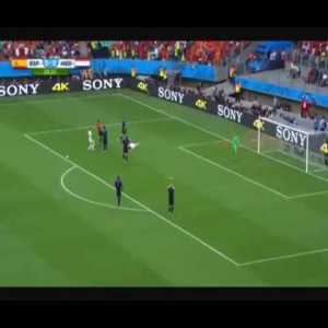 Spain [1] - 0 Netherlands - Xabi Alonso 27' (penalty + call) - 2014 WC