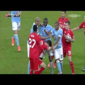 Yaya Toure and Lallana Fight