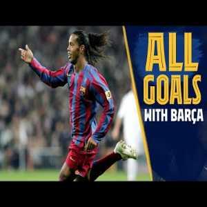All The Goals: Every Ronaldinho strike for Barça!