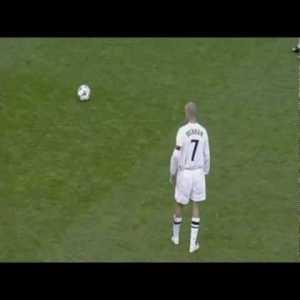 David Beckham 93rd minute phenomenal free kick to take England to the Euros