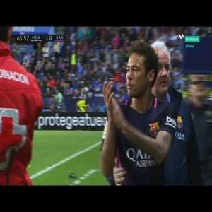 Neymar red card vs Malaga (with clapping)
