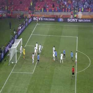 Luis Suarez wonder goal vs South Korea WC 2010
