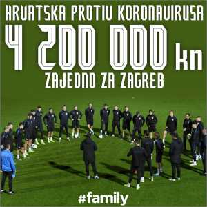 Croatia NT donate 4.2 million Croatian kunas (~550,000€) to coronavirus pandemic and Zagreb earthquake relief efforts