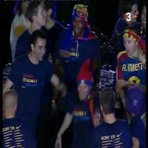 Flashback to Messi being completely blasted during Barca's victory parade after the 2009 UCL final