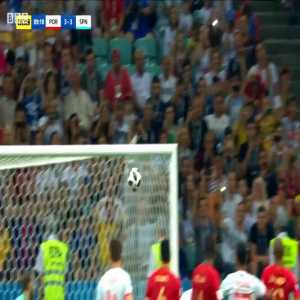 Cristiano Ronaldo amazing injury-time free kick v Spain at 2018 World Cup in Russia.