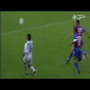 Moussa Saib (AJ Auxerre) great goal vs Caen in the French Ligue 1 (1994-95 season)