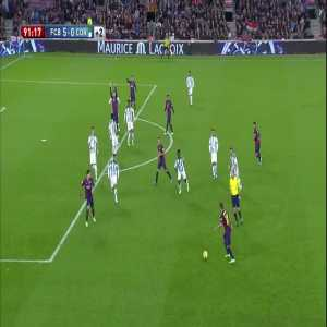 Barcelona [5]-0 Cordoba - Leo Messi 90+1' (Great touch for the goal)