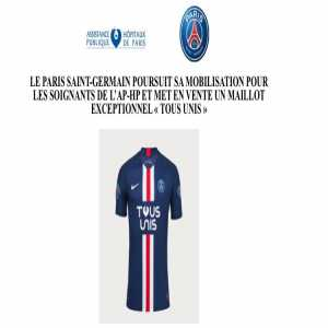 """Official: PSG launches a special edition """"Tous Unis"""" kit with all sale revenue set to be donated to AP-HP healthcare workers"""