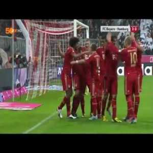 TB to Bayern Munich thrashing Hamburg 9-2 in a Bundesliga game