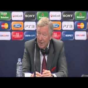 Video of Sir Alex Ferguson in 2011 responding to a journalist's question: 'Which one player would you sign from the current Barcelona team?'