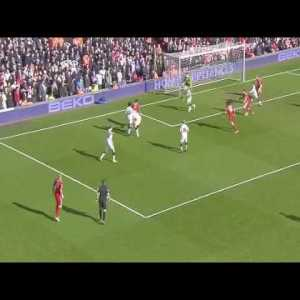 Dirk Kuyt tap-in against Manchester United (2011) Amazing dribbling by Suarez