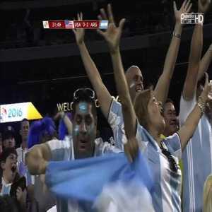 Messi's freekick vs USA great goal