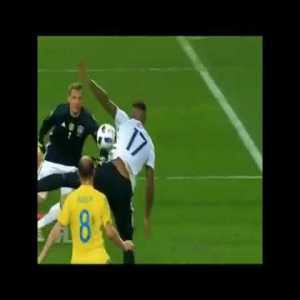 Jerome Boateng goal line clearance vs Ukraine - Euro 2016