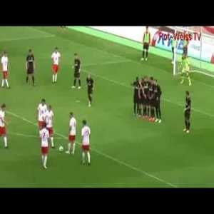 A deceptive free kick tactic works well