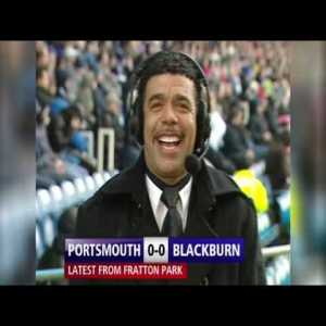 On this day in 2010, Chris Kamara famously reports on Portsmouth vs Blackburn