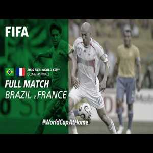 Here is the entire world cup match between France and Brazil in 2006 in HD