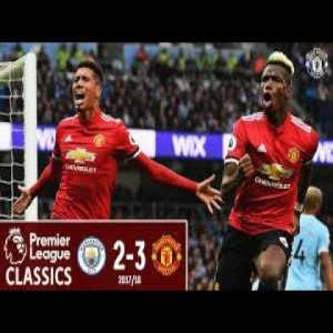 2 years ago today - Manchester United came from 2 goals down to beat Manchester City 3-2 at the Etihad to prevent them winning the league