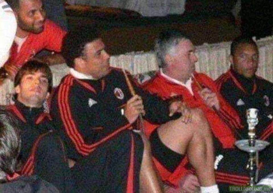 Throwback to when Ronaldo, Kaka, Ancelotti and Co. smoked shisha