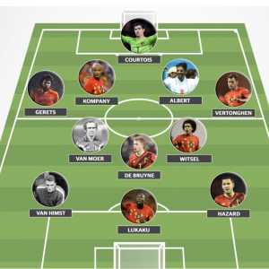 The Belgium all-time XI as voted on by HLN readers in Belgium