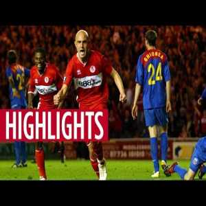 14 years ago today: Middlesbrough completes a dramatic 4 goal second-leg comeback vs Steaua Bucharest to reach their first ever European cup final (English commentary, Romanian version in comments)