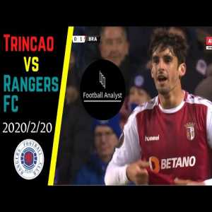 Francisco Trincao vs Rangers FC ● Skills ● (2020/02/20) ● Every Touches ● Individual Highlights