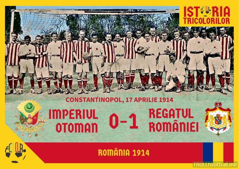 April 17, 1914, Constantinople: Ottoman Empire - Kingdom of Romania 0-1 (video missing ;-))